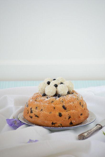 Blaubeer-Kokos-Gugelhupf / Blueberry Coconut Cake