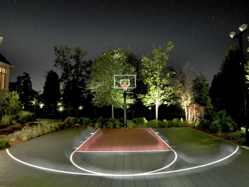 this sportcourt is so awesome it glows homedecor