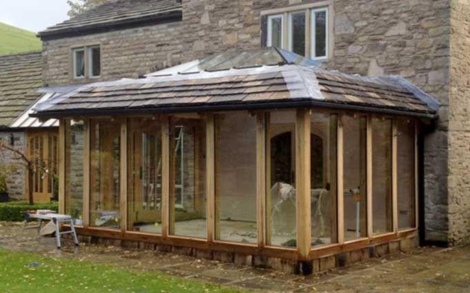 Best Oak Conservatory Prístavba House Extensions Oak Framed Extensions Mansard Roof 400 x 300