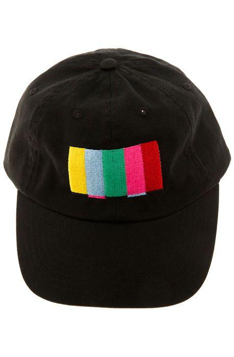 The Turn Off The TV Strapback Hat in Black  5ff71bb2826e
