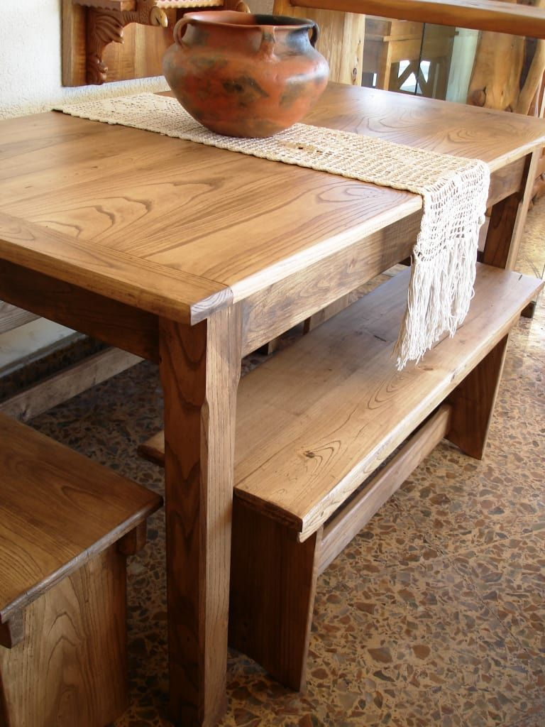 Mesas rusticas de madera para comedor