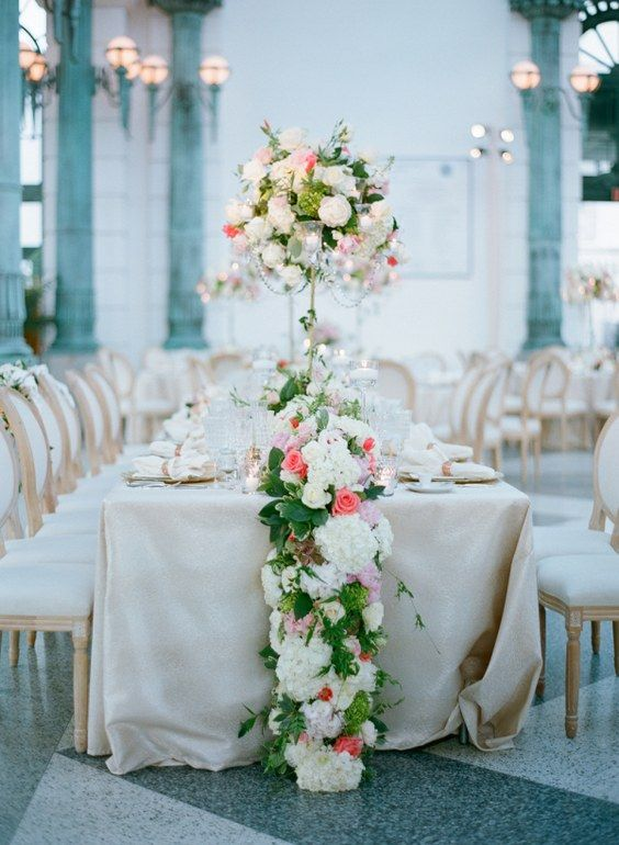 60 Wedding Table Runners That Will Wow Your Guests Wedding Table Centerpieces Wedding Photo Table Table Runners Wedding