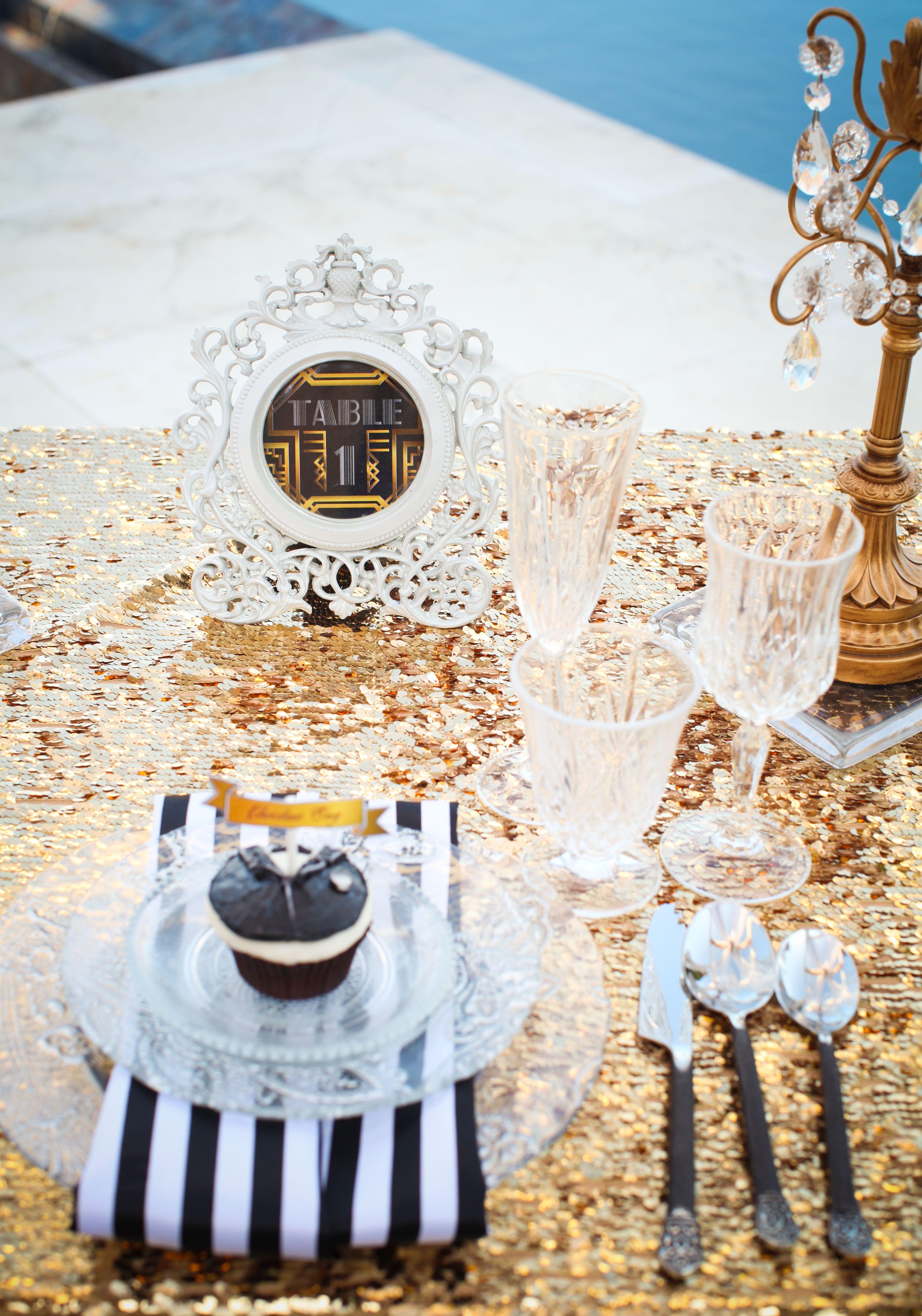 Great Gatsby Theme table decor | Lavish Wed San Diego | Pinterest ...