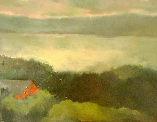 Beautiful painting by Deborah Blau. Titled Hudson Terrace II