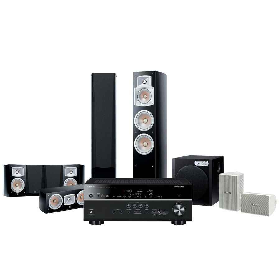 Yamaha yht channel home theatre package speakers rx amplifier also image result for speaker rh pinterest