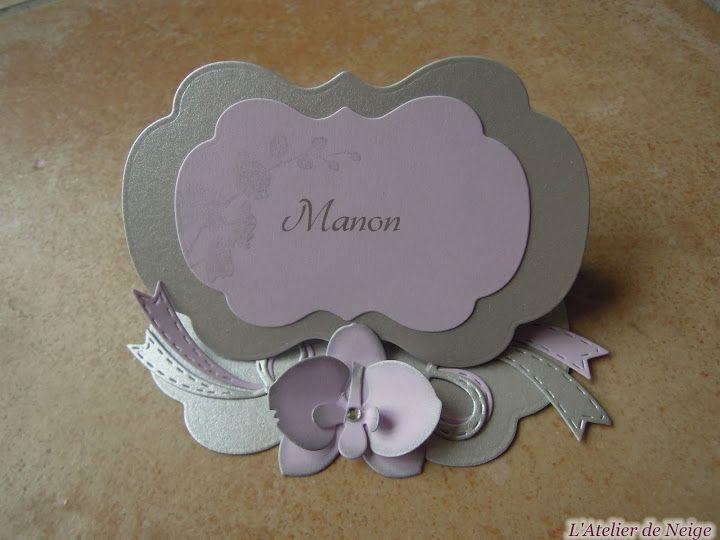Manon : 29 mai 2016 (Marque-place Communion) | Marque place communion, Marque place et Communion