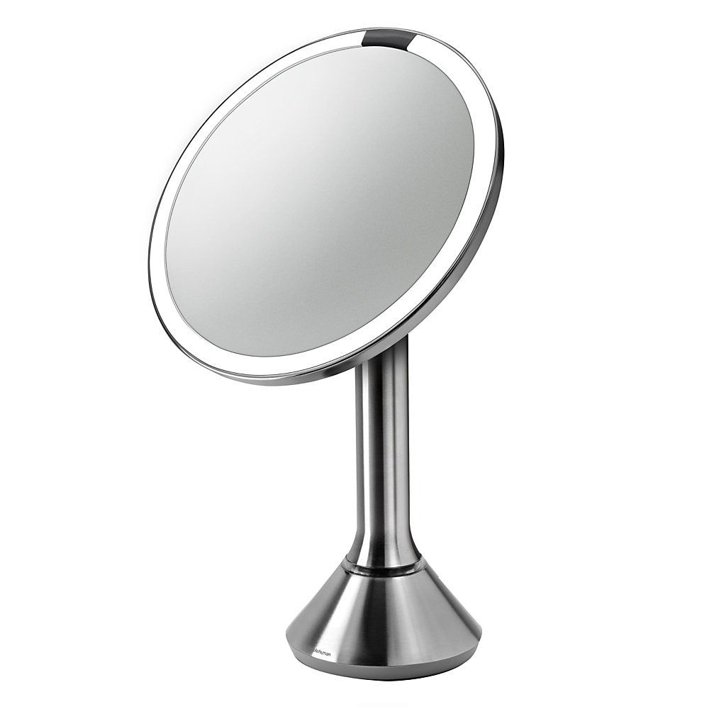 Simplehuman Round Sensor Mirror 8 Silver Lighted Vanity