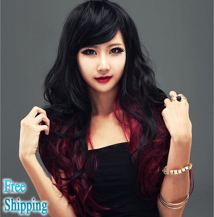 -font-b-Good-b-font-Quality-new-fashion-wine-red-color-sexy-ombre-hair-wigs.jpg (702×713)