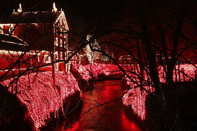 Clifton Mill Christmas Lights.Historic Clifton Mill Ohio Ohio Clifton Mill