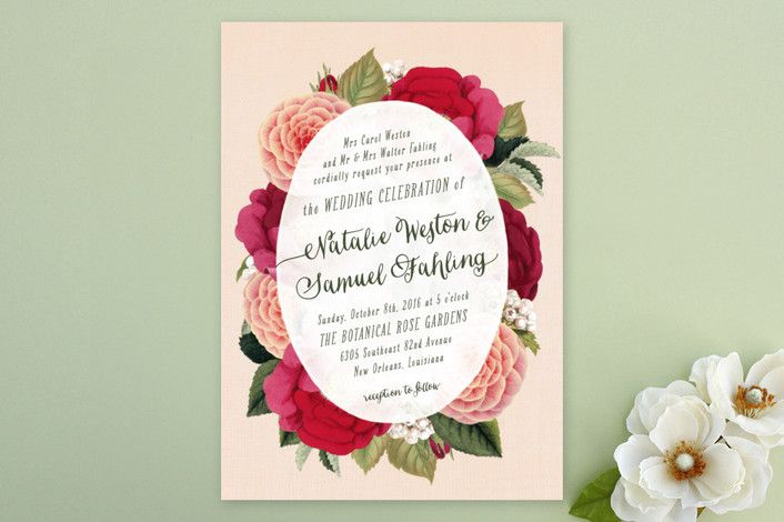 Vintage Botanicals Wedding Invitations by Hooray Creative at minted.com