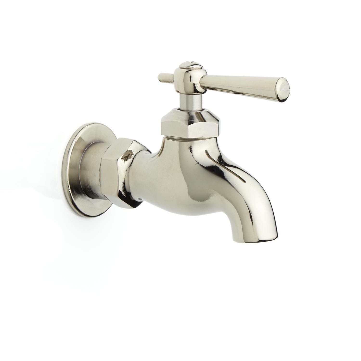 Single Wall-Mount Faucet with Lever Handle | Wall mount faucet ...