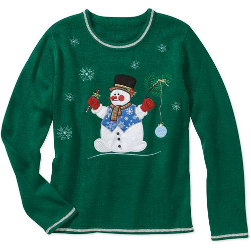 White Stag Womens Snowman Christmas Sweater Women Walmartcom
