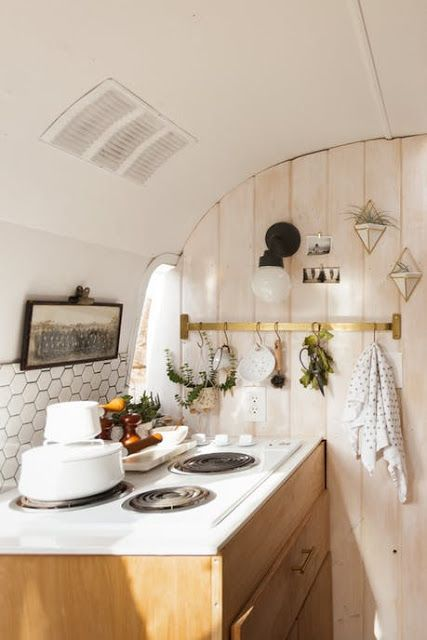 The Tin Can Homestead A Restored And Updated 48 Airstream Trailer Stunning Airstream Interior Design Minimalist