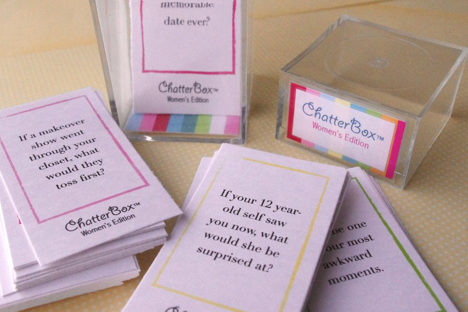 INSTANT DOWNLOAD - ChatterBox Conversation Game - Women's
