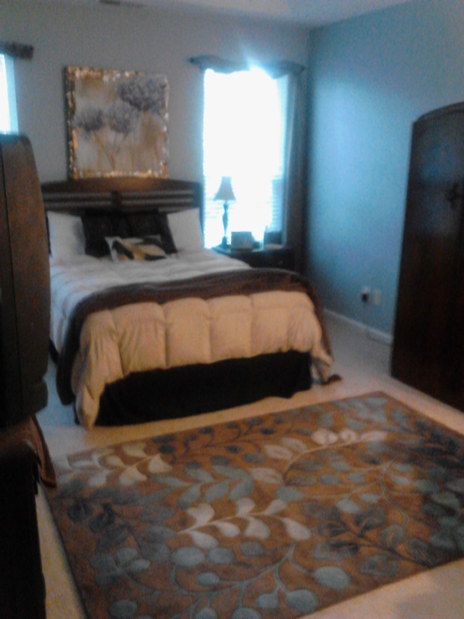 my bedroom, with one of our beautiful area rugs...brings it all together