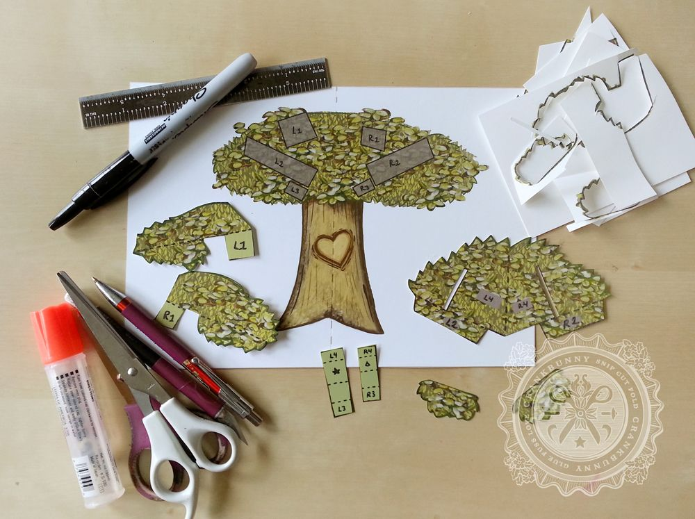 Pop Up Book Templates Download   Custom Carved Heart Tree Pop Up Card Great For Father S Day Free