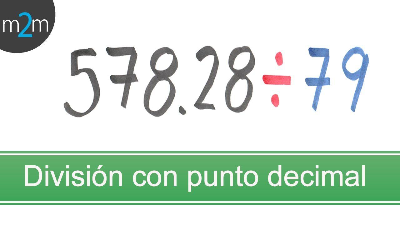 División De Números Con Punto Decimal Decimal Sistema Métrico Decimal Sistema De Numeración Decimal