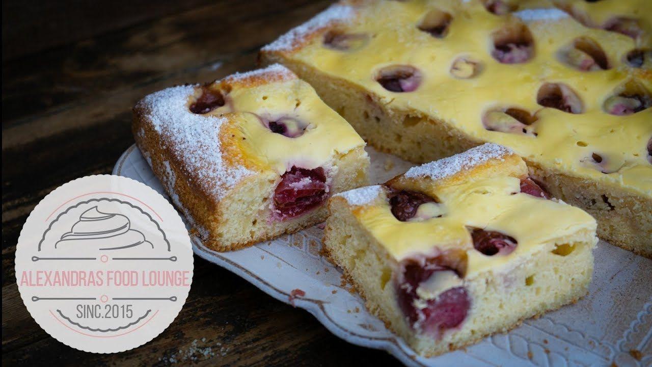 Kirsch Quark Kuchen Mit Frischen Kirschen Mega Lecker Youtube Kuchen Rezepte Kirsch Schmand Kuchen Kirschkuchen