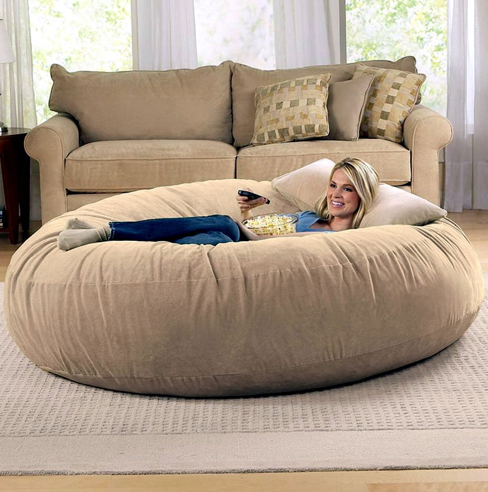 15+ Furry Jumbo Bean Bag Chair That Can Release Your