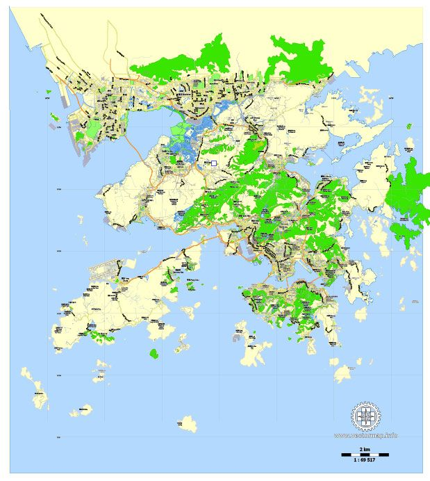 Hong kong shenzhen china printable vector map adobe illustrator printable map of hong kong shenzhen china exact vector map for adobe illustrator gumiabroncs Image collections