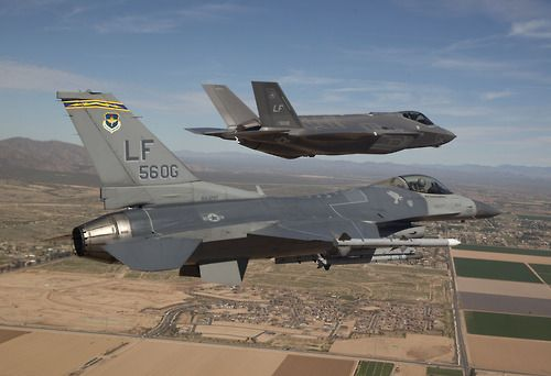 F-16 and F-35.