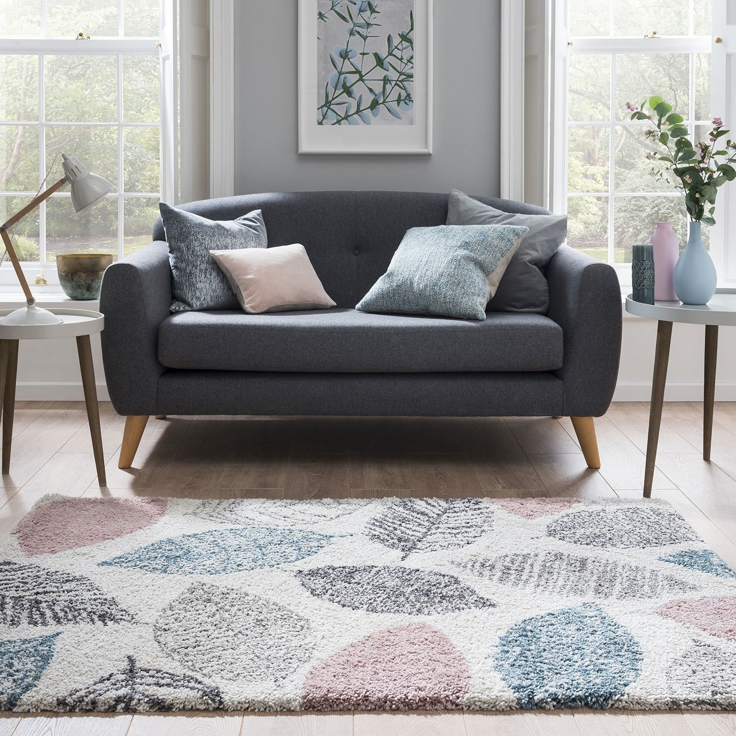 Noble Leaf Pastel Rug Home decor, Unique rugs, Home rugs