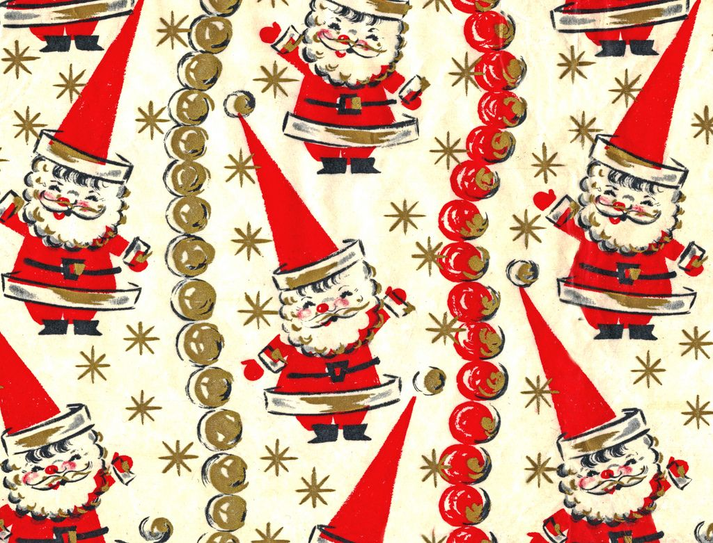 Vintage Christmas Wrapping Paper (06) | Xmas for Modern Families ...
