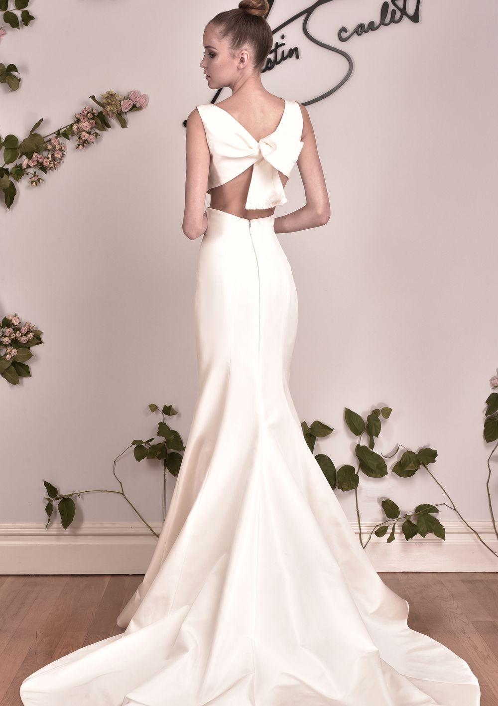 Austin Scarlett Promenade   Minimal wedding dress, Wedding dress ...