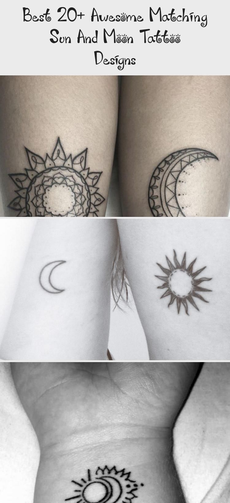 Best 20 Awesome Matching Sun And Moon Tattoo Designs Tattoos Matching Sun And Moon Tattoo Design In 2020 Moon Tattoo Designs Moon Tattoo Tattoo Designs