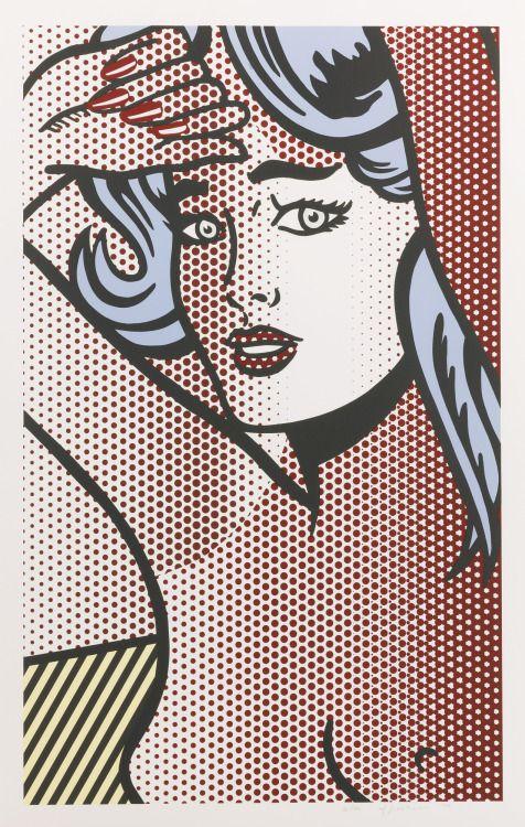 """""""Nude with blue hair"""",1994 by Roy Lichtenstein"""