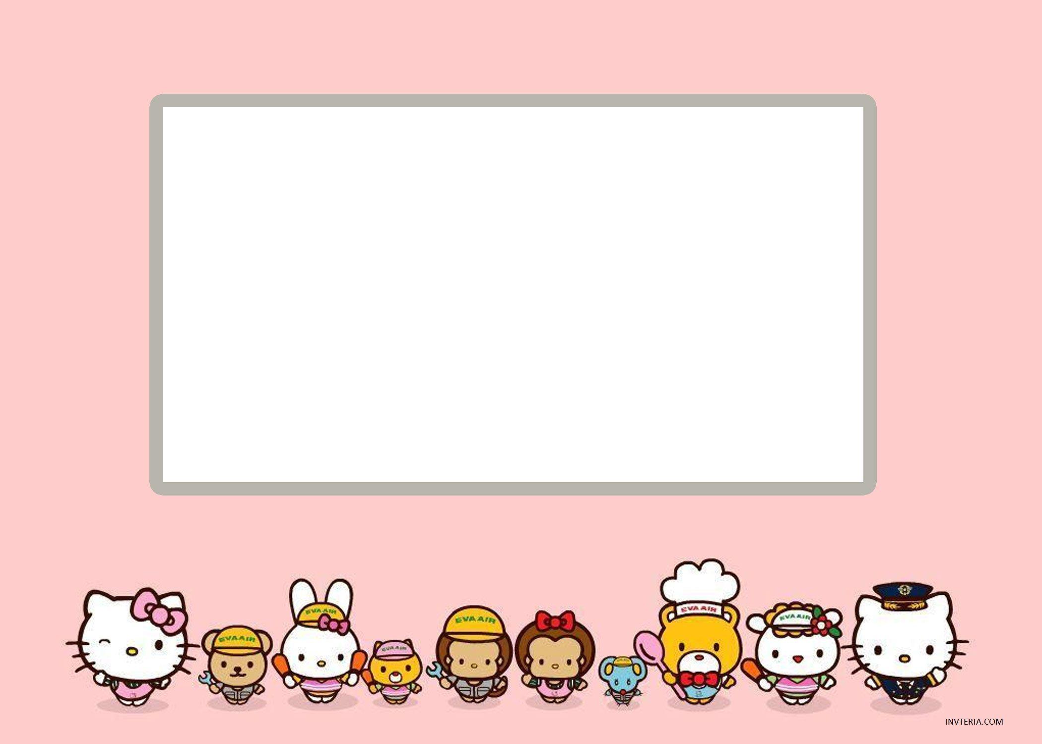 Fine Free Hello Kitty Birthday Invitations Editable Invitation