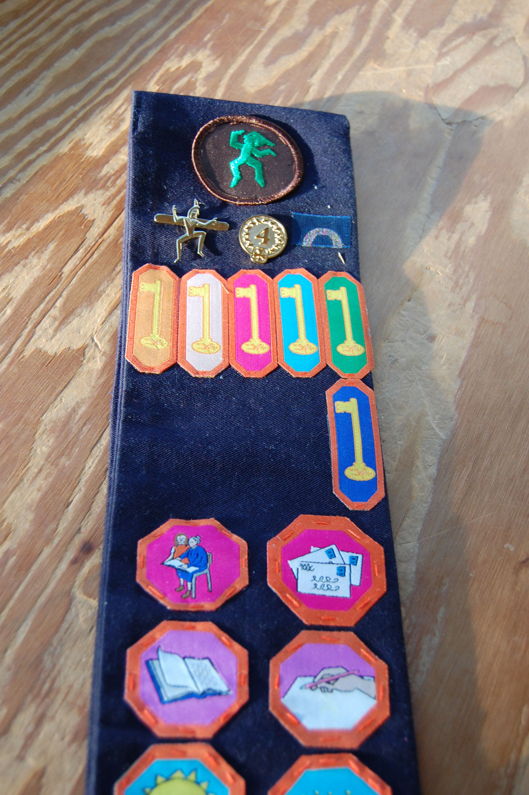 Girl Guide Brownie Sash Key Placement To Allow The Most Amount Of