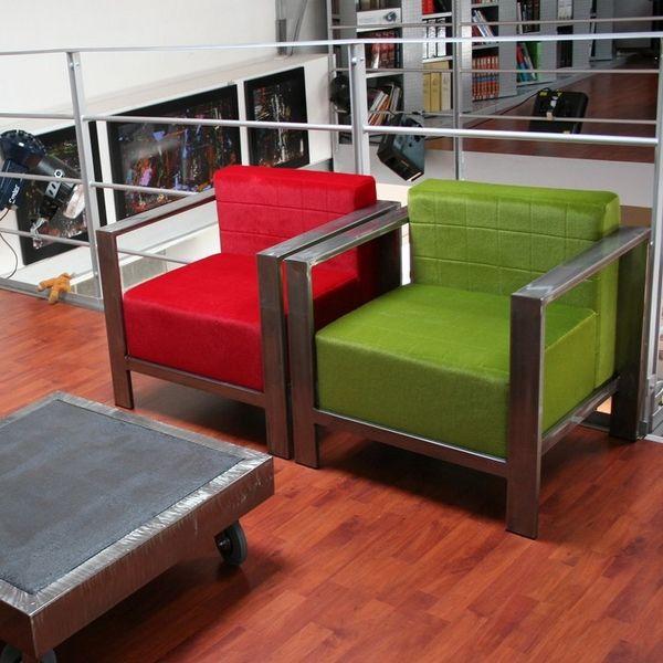 Fauteuil metal dise o de muebles pinterest muebles for Muebles industriales metal baratos
