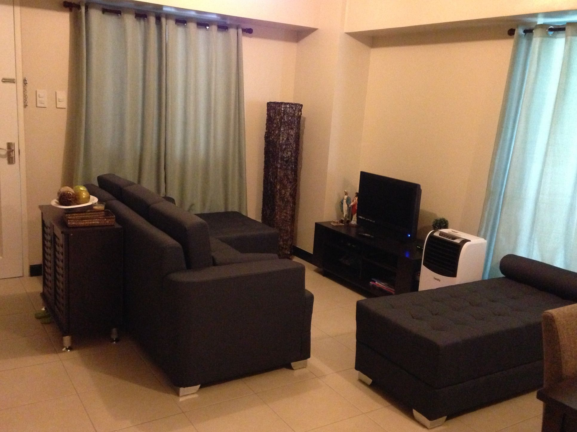 living room :: sofa set from Our Home, SM Mall of Asia; floor lamp ...