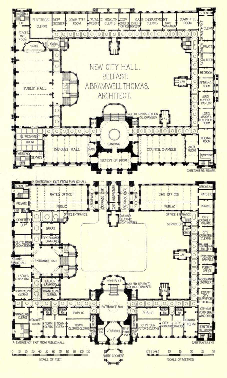 Plans Of The New City Hall Belfast Architectural Floor Plans Home Design Floor Plans Mansion Floor Plan
