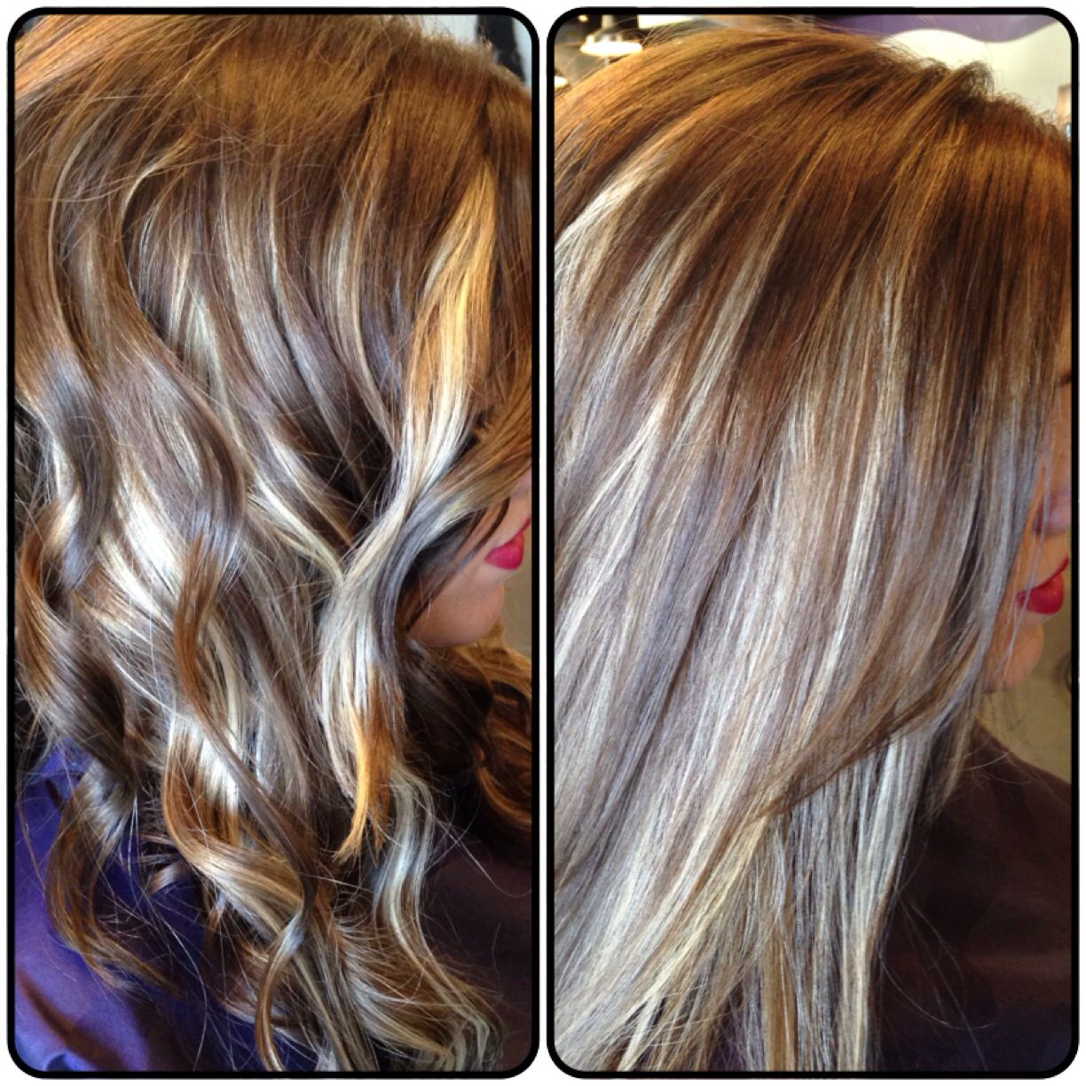 halo dark with chunky highlights under. straightened and