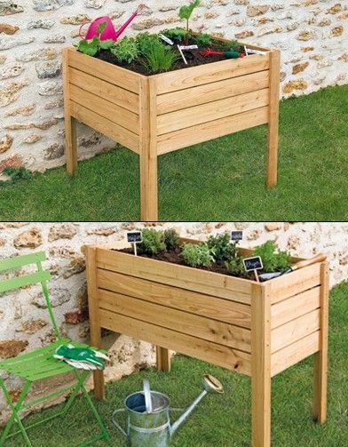 jardini res pour potager urbain potagers suspendus pinterest potager jardins et jardinage. Black Bedroom Furniture Sets. Home Design Ideas