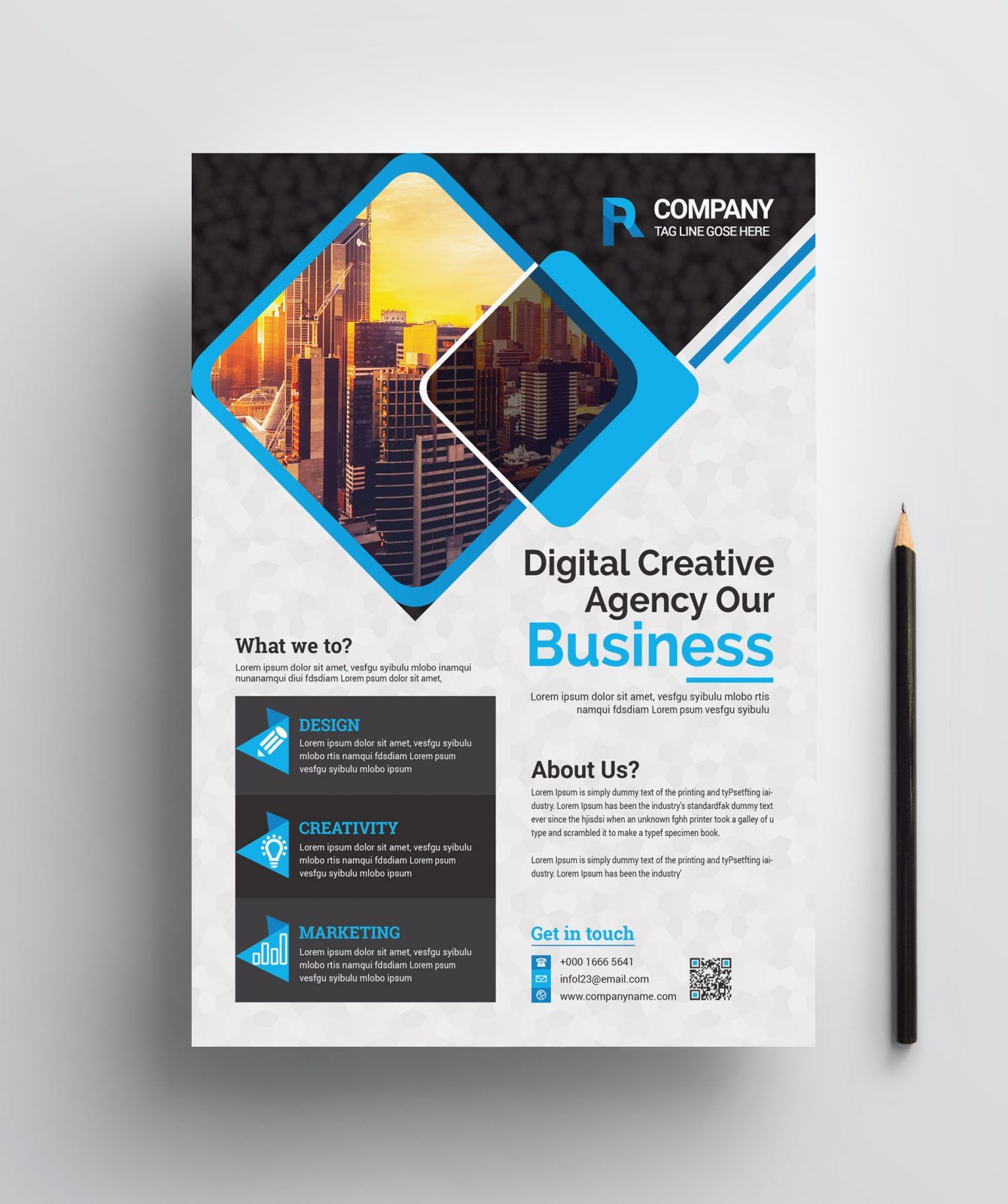 corporate print flyer template 002455 ad campaign flyer template