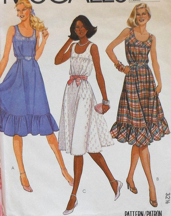 Sundress Sewing Pattern McCalls 7500 Size 10 by latenightcoffee