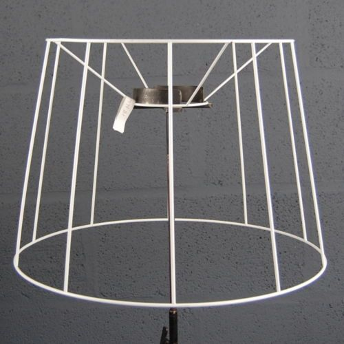 Wire Lampshade Frames Interesting Newwirelampshadeframe18Circulardrum  Wine Cafe Hot Desk Decorating Design
