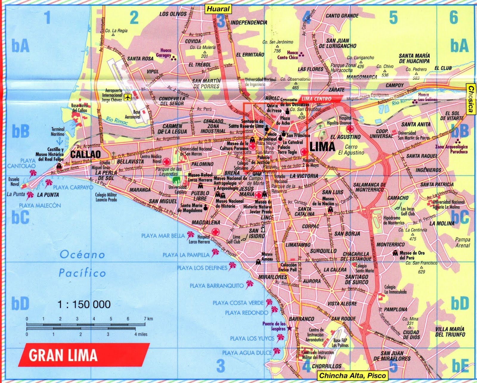 Limaperuimages Were The Above Map Of Lima Peru Downloadable - Road map of peru