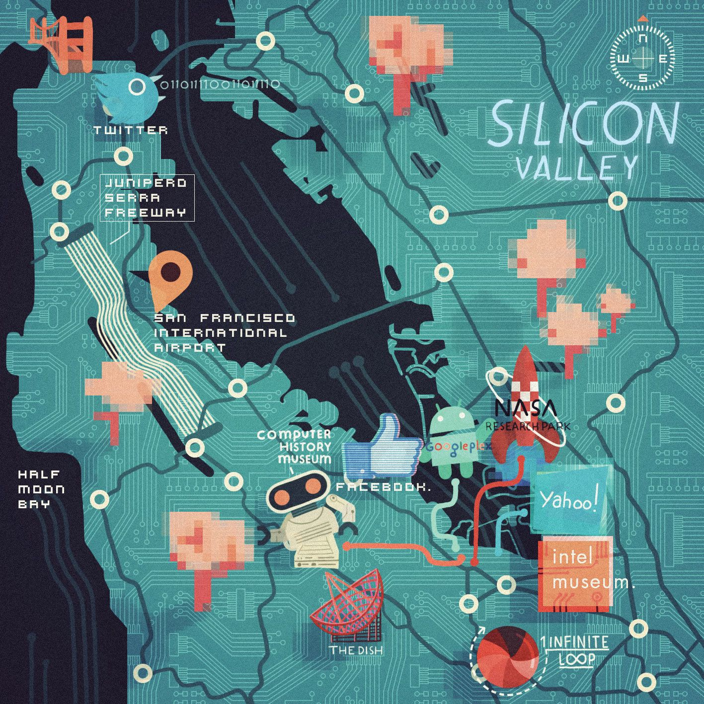 Steve McCarthy Map of Silicon Valley