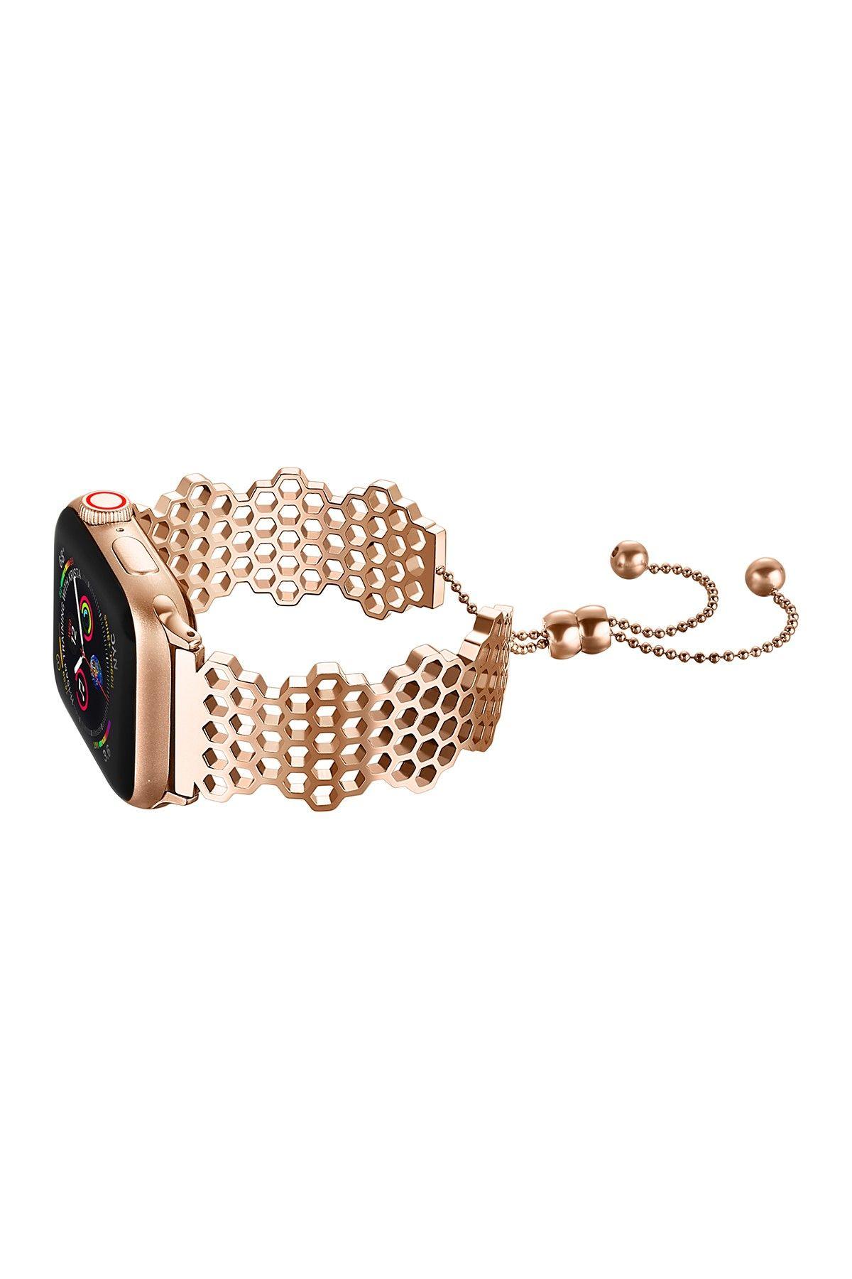 POSH TECH Rose Gold Darling Elegant 38mm Apple Watch 1/2