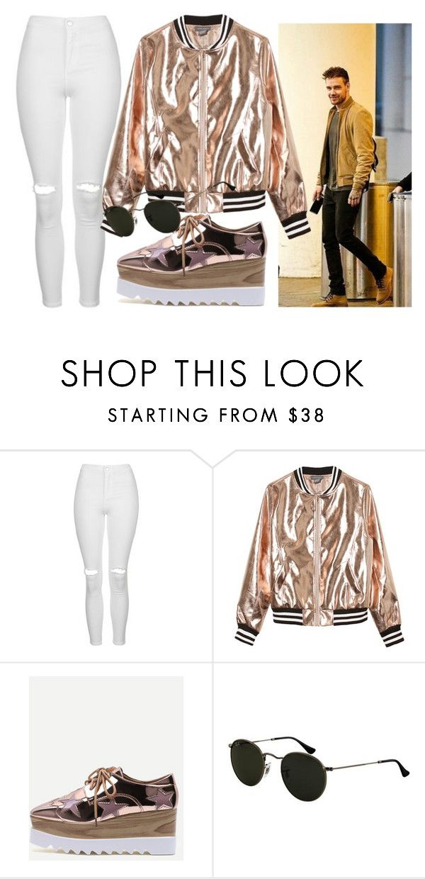 """""""Sin título #3450"""" by greciavalentino ❤ liked on Polyvore featuring Topshop, Sans Souci and Ray-Ban"""