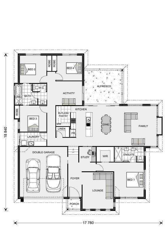 Fernbank 262 Our Designs Batemans Bay Builder Gj Gardner Homes Batemans Bay Floor Plans House Floor Plans How To Plan