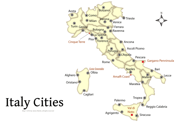 Italy Map With Major Cities - Map of italy cities
