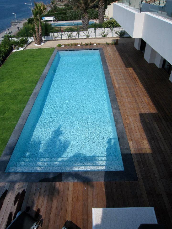 Mosaique piscine gris p tes de verre stefania carrelage piscine en 2019 carrelage piscine - Carrelage piscine moderne ...