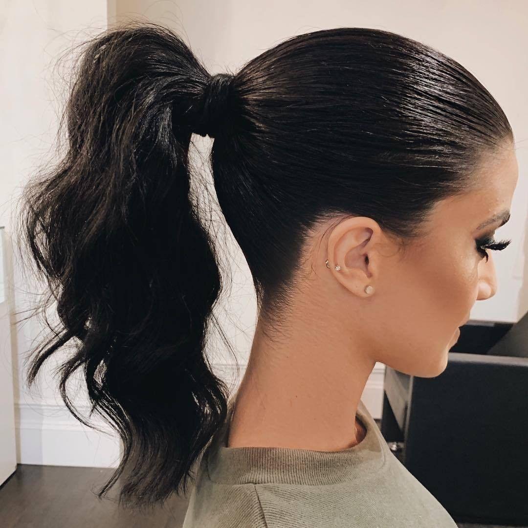 Pin On Long Hair Ponytail