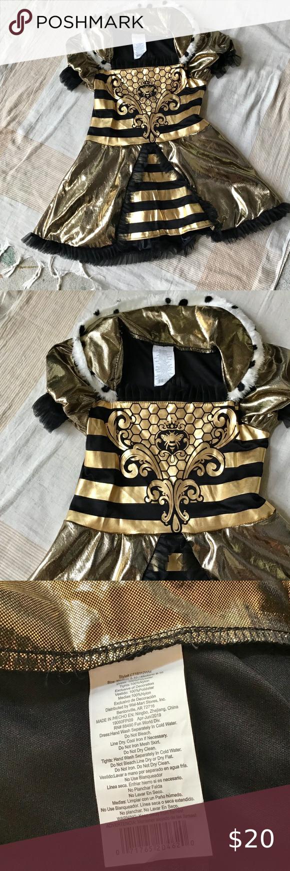 Costume Kids Kids Costumes Metallic Gold And Black Queen Bee Costume [ 1740 x 580 Pixel ]
