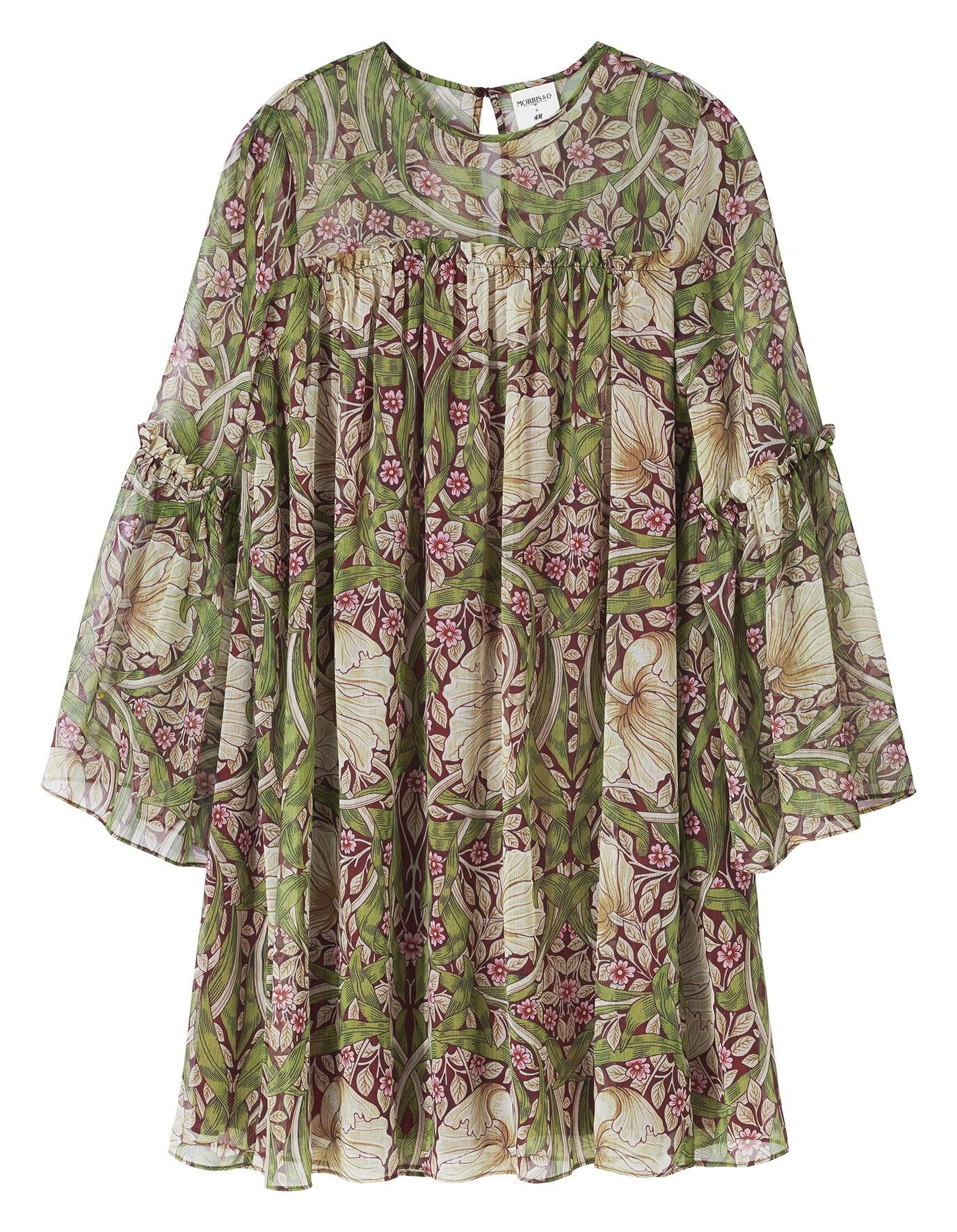 5cc4928caebe Hm William Morris   Purdy clothes in 2019   Dresses with sleeves ...